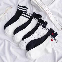 1 пара Новинка 2018 года для женщин девушка короткие носки хлопок кружево прекрасный оборками Высокое качество Зима Осень рождественские