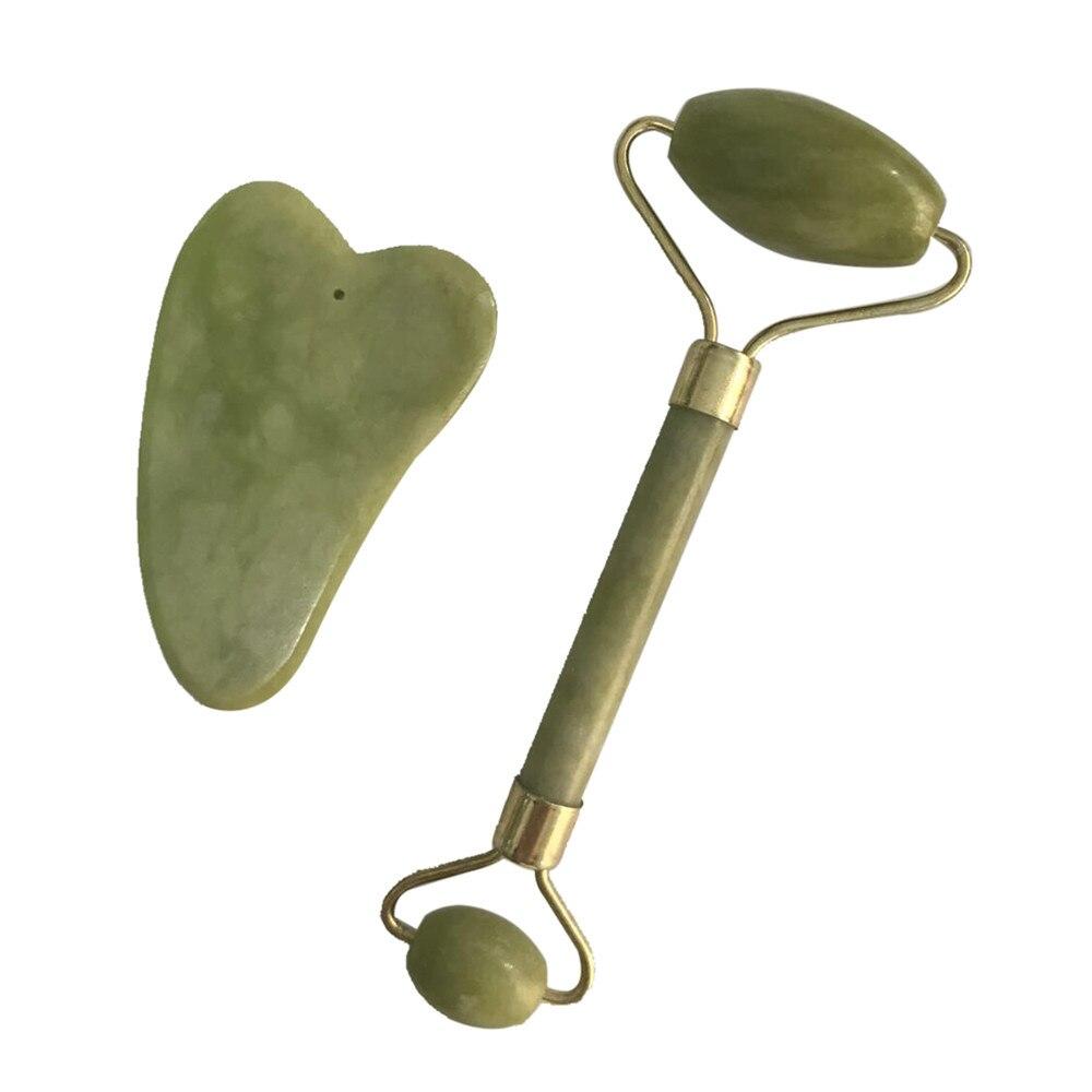 Нефрит для массажа лица роллер Королевский нефритовый ролик-массажер для похудения и перемещения лица массажер инструмент роликовый массажер для лица