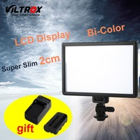 Viltrox L116T LCD Display Bi Color & Dimmable Slim DSLR Video LED Light +Battery +Charger for Canon Nikon Camera DV Camcorder