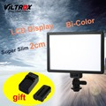 Viltrox l116t pantalla lcd bicolor y regulable delgado dslr de video led light + batería + cargador para canon nikon videocámara dv de la cámara