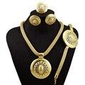 Novo design de grandes conjuntos de jóias de ouro cheias de jóias conjuntos conjuntos de jóias de noiva conjuntos de jóias de moda colar de mulheres