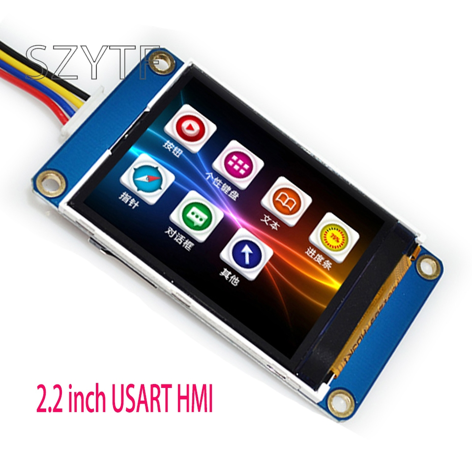 10pcs 2.2 Inch Screen Integrated Serial USART HMI Smart Character GPU TFT LCD Module 240 * 320