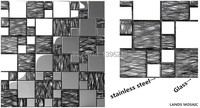 Free shipping,Stainless Steel Mosaic Tile TV/Kitchen Backsplash Shower Wall,Crystal Glass home decor paper modern design,LSTC017