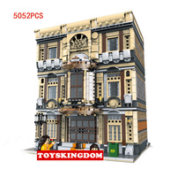 Hot City street view Maritime Museum moc building block model bricks doll figures educational collection toys for adult kid gift