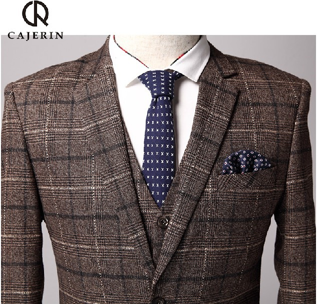 Popular Brown Plaid Suit-Buy Cheap Brown Plaid Suit lots from ...