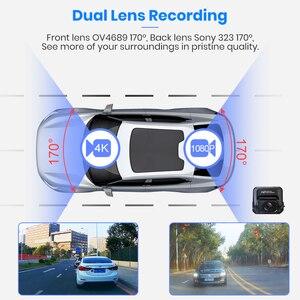 Image 2 - Junsun S590P 4K Dash Cam WiFi Voiture Dvr GPS Tracker ADAS Super HD 2880 * 2160P Vision Nocturne Dashcam 1080P Enregistreur Arrière de Caméra