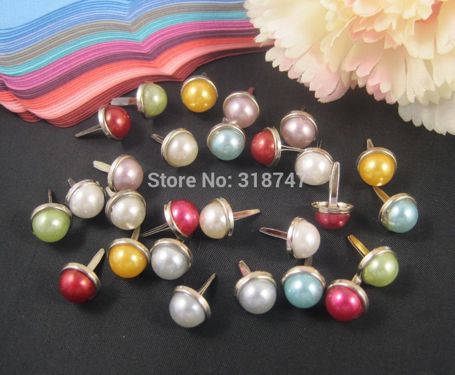 Lucia crafts 8mm wholesale multi colors options 8mm Scrapbooking pearl Brads DIY Jewelry Accessories 12pcs/24pcs 15002007(1)