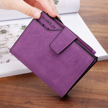 New Women Short Wallets Solid Vintage Matte Nubuck PU Female Fashion Zipper Wallet Coin bag Credit Card Holder More Color цена в Москве и Питере