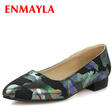ENMAYER Brand New women Flats  Pointed Toe Summer Platform Elegant Fashion Womens Casual Shoes