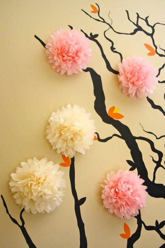 15pcs 6 Quot 15cm Tissue Paper Pom Poms Wall Decor Nursery