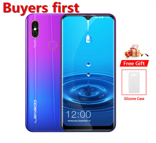 "2019 new LEAGOO M13 Android 9.0 19:9 6.1""FHD smartphone 4GB RAM 32GB ROM MT6761 Quad Core 4G Waterdrop OTG Mobile Phone PK Y8"