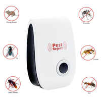 Electronic Ultrasonic Mouse Killer Cockroach Trap Insect Mosquito Repeller Rats Spiders Practical Pest Control Device