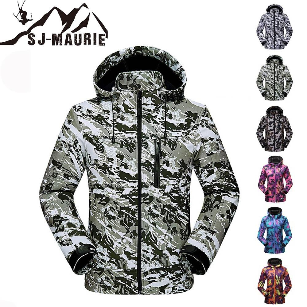 Sj-maurie 2018 nouveau costume de Ski d'hiver hommes et femmes Ski Snowboard veste ensembles combinaison de neige pour la randonnée en plein air chasse veste M-4XL