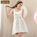 Qianxiu Nightgowns para as mulheres verão colete de algodão mulheres Nightshirt Sleepwear terno 16511