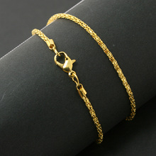 Snake Chain Necklace Gold Silver Color
