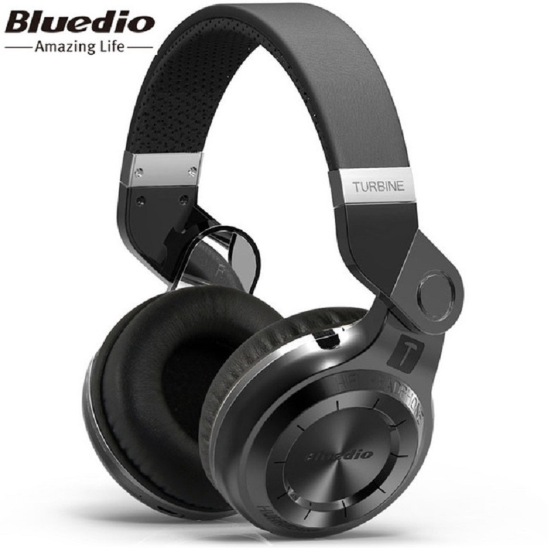 100% Orignal Bluedio T2 casque sans fil Bluetooth MP3 casque intelligent 4.1 HIFI casque Bluetooth stéréo casque Support APP