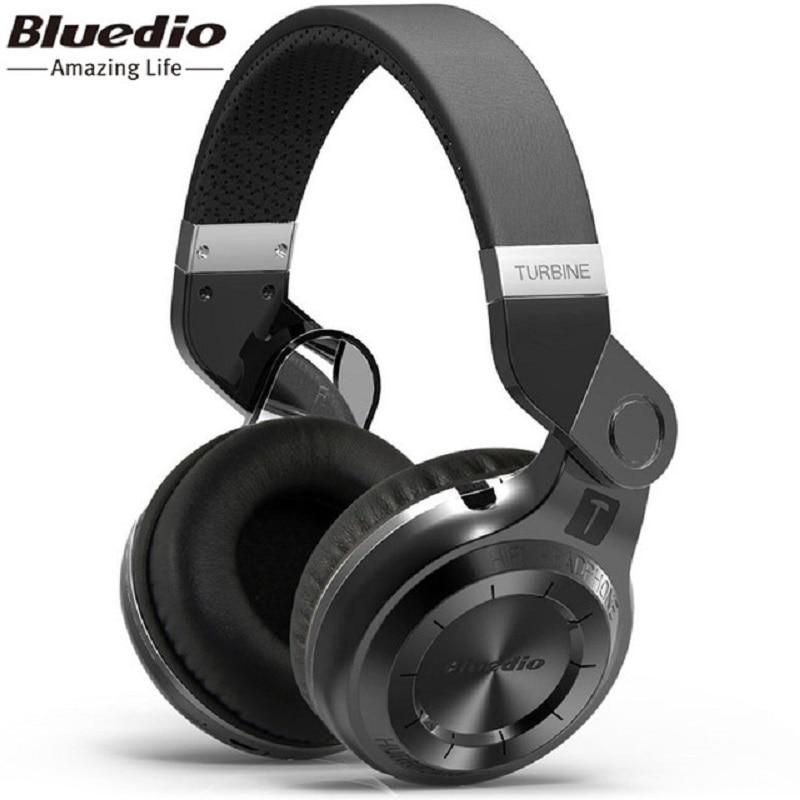 100% Orignal Bluedio T2 casque sans fil Bluetooth MP3 casque intelligent 4.1 HIFI casque Bluetooth stéréo casque Support APP