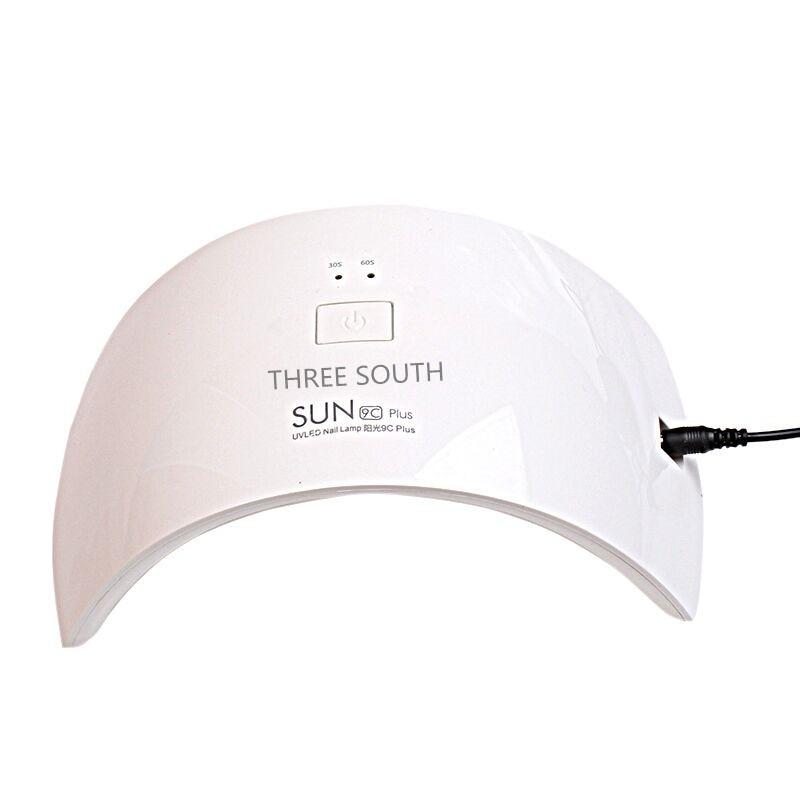 Tiga Lampu LED Selatan SUN9c Plus 36W 18 LEDS UV Lampu Nail Fingernail Kuku Pengering untuk Semua Gel dengan 30s / 60s Pengering kuku