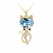 Здесь можно купить   Lovely Classic Cute Romantic gold color Kitten shape to send girlfriend necklaces LKN18KRGPN1141 Fashion Jewelry