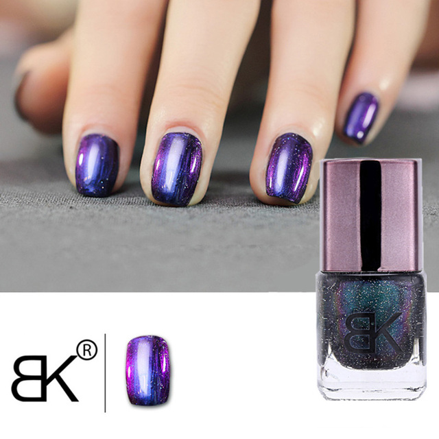 Black Starry Sky Holographic Nail Polish No Need Lamp Brand BK Glitter Nail Enamel Professional Nail Art Cosmetics