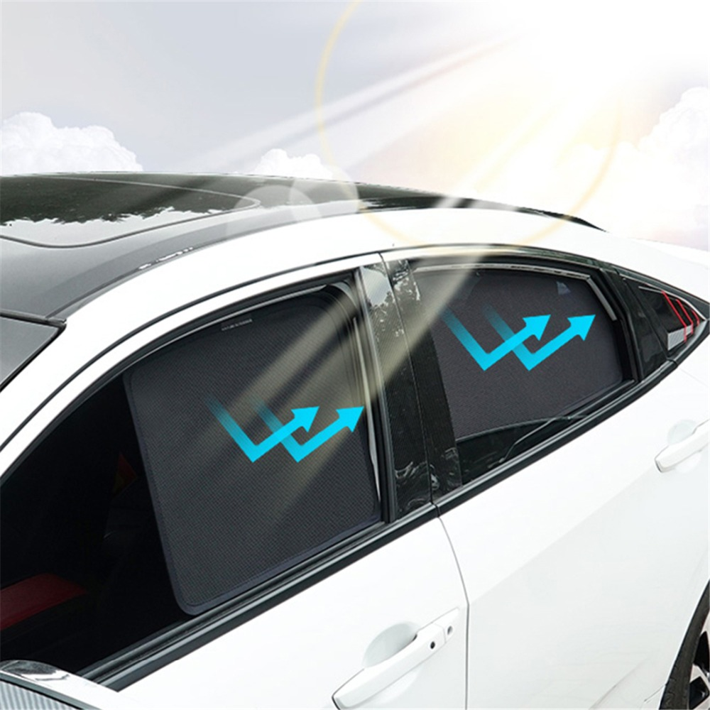 Magnetic Window Curtain Visor For Kia K5 2016 2017 Front Rear 4PCS Side Window Windshield Sunshades Mesh Cover For Kia K5 2018 image