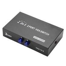2 в 1 выход VGA коммутатор сплиттер синхронизации данных VGA монитор переключатель VGA сплиттер для ПК ноутбука