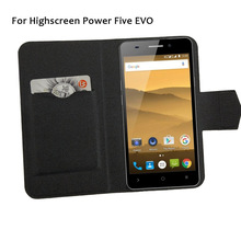 5 Colors Hot! Highscreen Power Five EVO Phone Case Leather Cover,2017 Luxurious Full Flip Leather Stand Phone Cases Cover