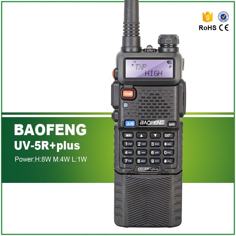 Baofeng UV-5R Plus 2m//70cm walkie Talkie portatil Radio Aficionado Camuflaje Doble Banda VHF//UHF y 128 Canales de Memoria