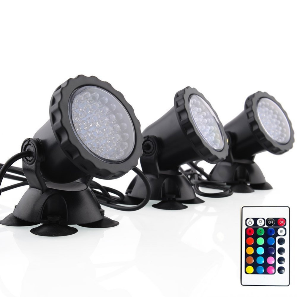 IP68 RGB LED Underwater Submersible Spot Light Landscape Lamp for Garden Fountain Fish Tank 1 driving