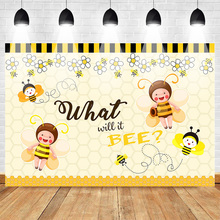 Mehofoto Gender Reveal Theme Party Photo Backdrop Baby Shower Newborn Background Photography Yellow Flowers Bee Backdrop Studio mehofoto bee baby shower backdrop a sweet little bee sunflower photography background honey bumble bee baby shower party banner