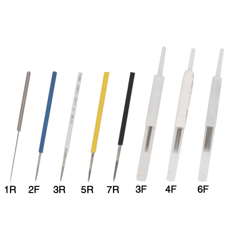 100pcs Merlin Tattoo Needles 1R/2R/3R/5R/7R/3F/4F/6F For Permanent Makeup Eyebrow And Lip Designs Deluxe Merlin Machine