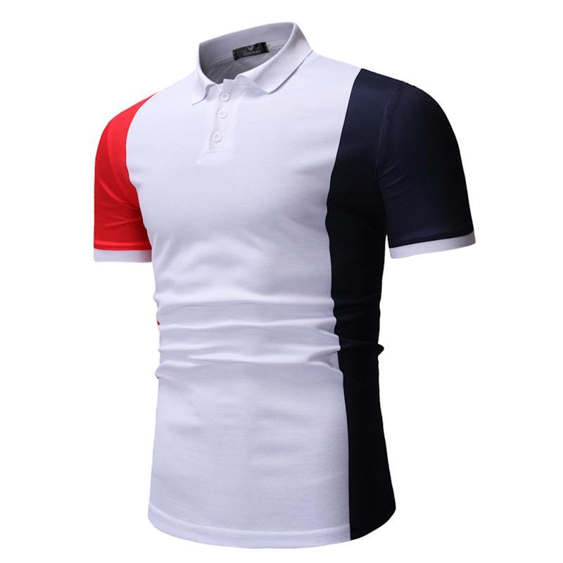Men's   POLO   Shirt Casual Fashion Men's Clothing Tops Tees Men   Polo   Shirt Casual Fashion White Red