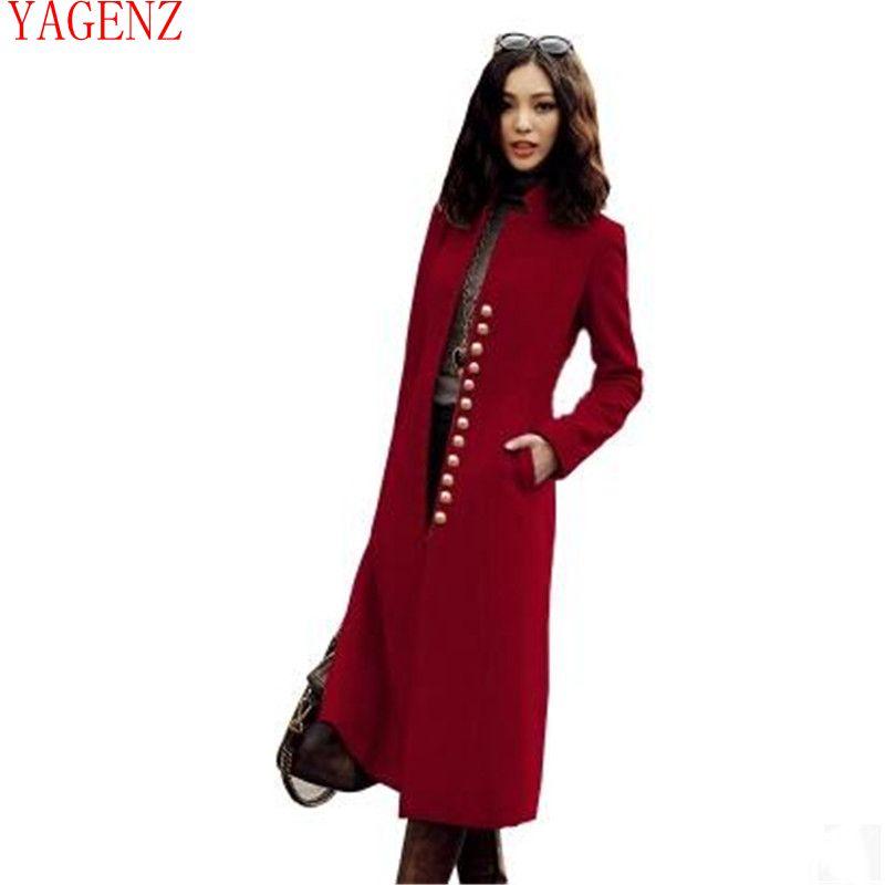 Donna Dimensioni Di Abbigliamento Retrò Color Lana Nuovo Wine Qualità Stile Cachemire Europa Red camel Grandi Alta Vestiti Inverno Temperamento black Cappotto Kg711 dvZwdI