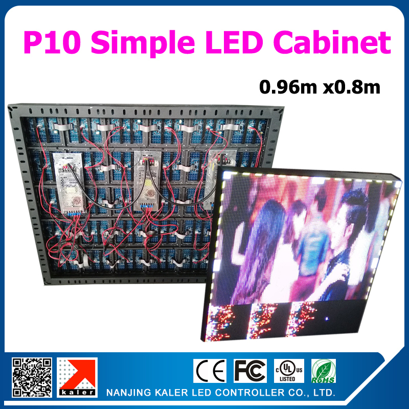 TEEHO Manufacturer supply 0.96mx0.8m led video screen board RGB P10 led panel FIXED installation led videowall <font><b>sign</b></font> <font><b>billboard</b></font> image
