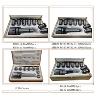 8Pcs MT4 MT3 MT2 R8 NT40 NT30 Morse Taper Collet and Chuck Spanner Set Lathe Indexable Milling Cutter Tools