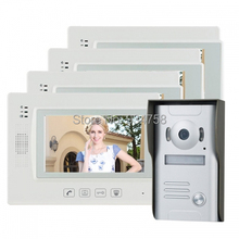 "7 "" TFT LCD Video videoportero Intercom timbre Home Security Monitor de la cámara visión nocturna 1V4"
