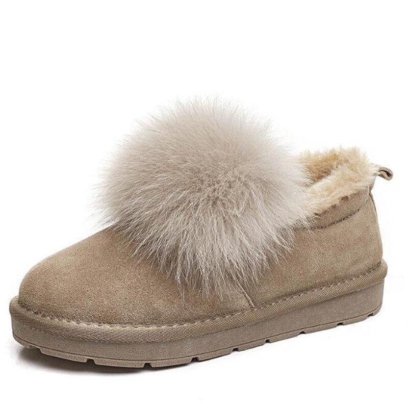 De Impermeable Zapatos Plana Zorro Moda Calidad Nieve mushroom Sh142 Destacado Color rosado Botas Antideslizante Botines Invierno khaki Mujer Arranque Mujeres Negro Alta 05Fqpwn7