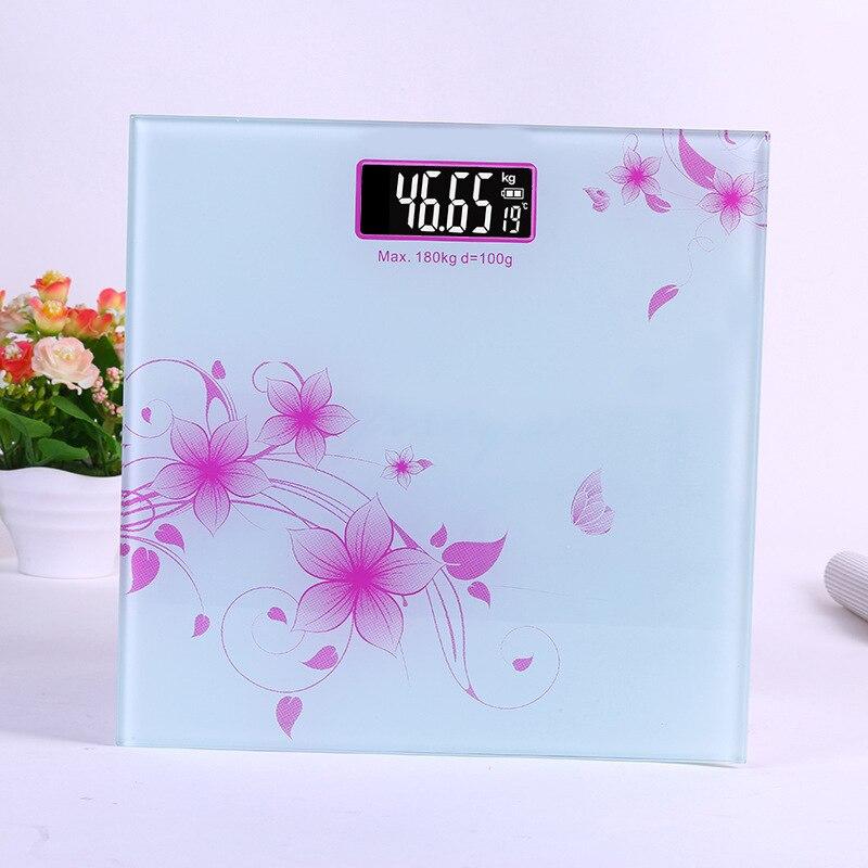 Balance de corps de plancher de salle de bains verre intelligent ménage électronique Balance de poids numérique bariatrique LCD affichage numérique