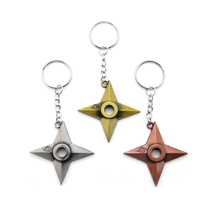 Original New Fashion Naruto Keychain Dart Weapon Konoha Logo Uzumaki Keyring Key Chain Ring Ninja Anime Jewelry Gift