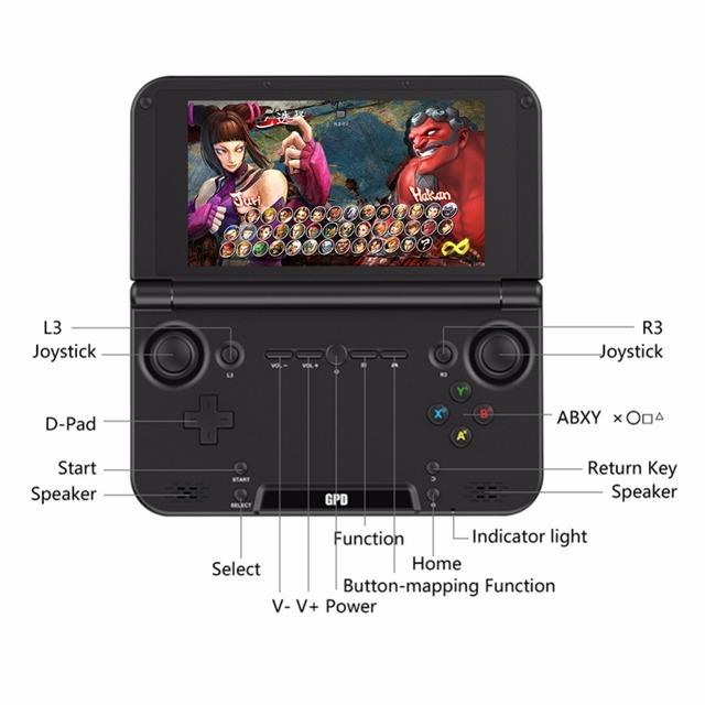 New GPD XD Plus Gamepad Tablet PC MediaTek MT8176 Quad Core 4GB RAM 32GB ROM laptop 5.0 Inch 1280*720 Bluetooth Mini Notebook