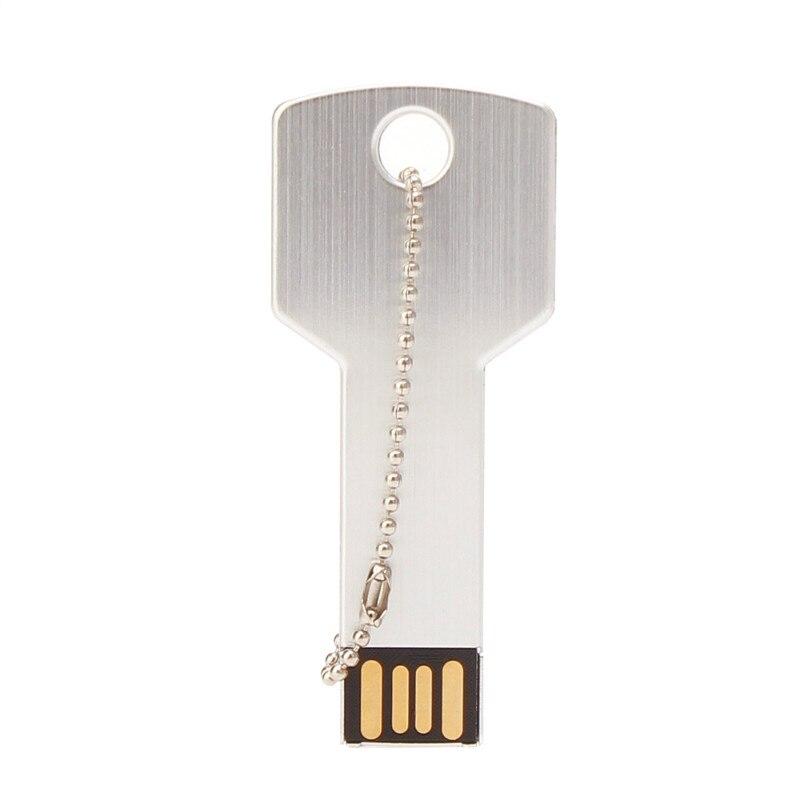 Image 5 - Metal Key USB Flash Drive 64GB Real Capacity Pendrive 32GB U Disk 2.0 128GB 16GB 8GB 4GB Pen Drive Memoria Usb Free Custom Logo-in USB Flash Drives from Computer & Office
