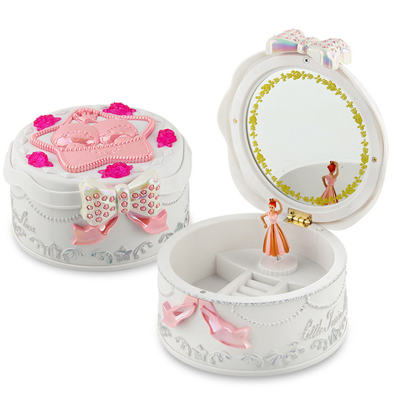 Cute Plastic Music Box Creative Gift Gifts For Kids Musical Jewel Case Moded Music Boxes Boxs Children Toys Decorations For Home