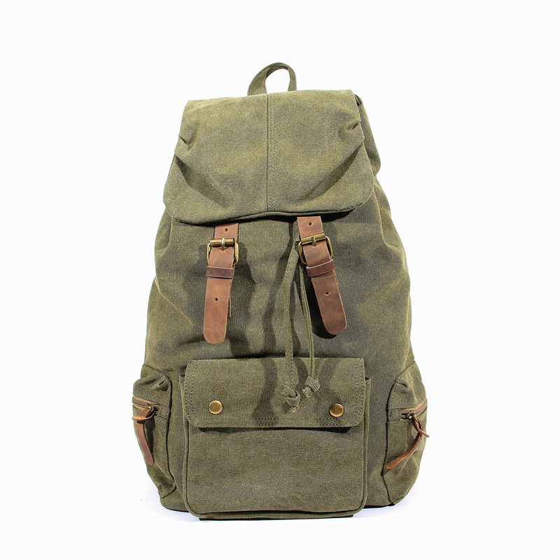 YISHEN Fashion Vintage Unisex Canvas Backpack Men Women Huge Casual Travel Bags Teenager School Book Bags For Boys Girls MS6878
