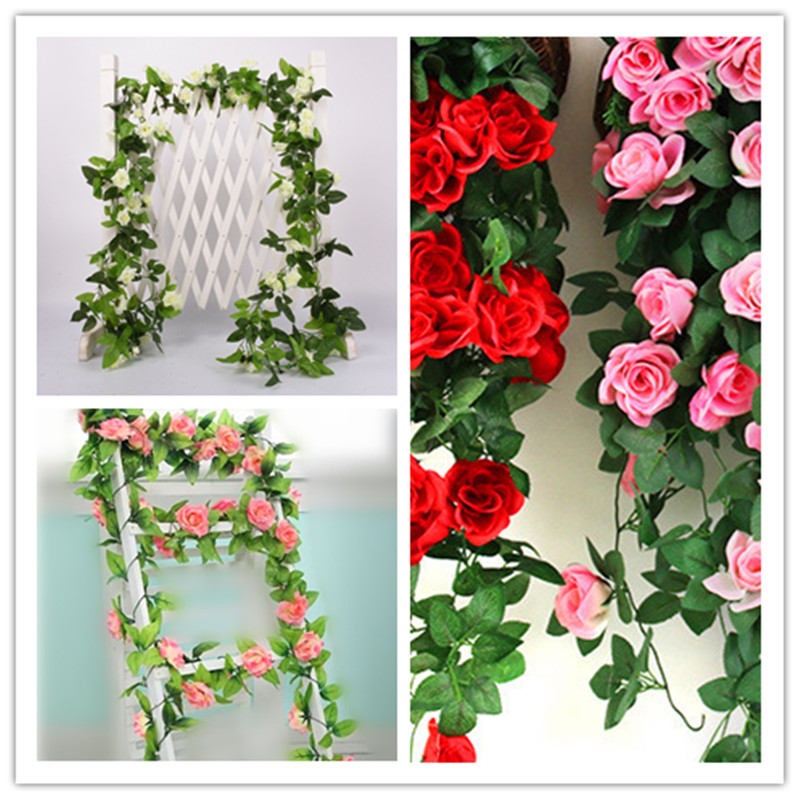 13 <font><b>fllowers</b></font> 2.5M artificial flower garland ivy vine fake vine leaves leaf home party Home Furnishing decoration wedding decor image