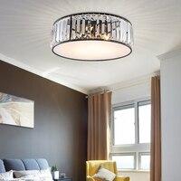 Европейский Простой E27 лампы кристалл потолочные светильники светодиодные лампы черный/серебристый матовый жизни освещение блеск