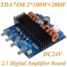 2.1 de ALIMENTACIÓN DC24V-32V TDA7498 Clase D 3 Canal 200 W + 100 W + 100 W Tablero Del Amplificador Digital de Envío Libre con Número de la Pista 12003201