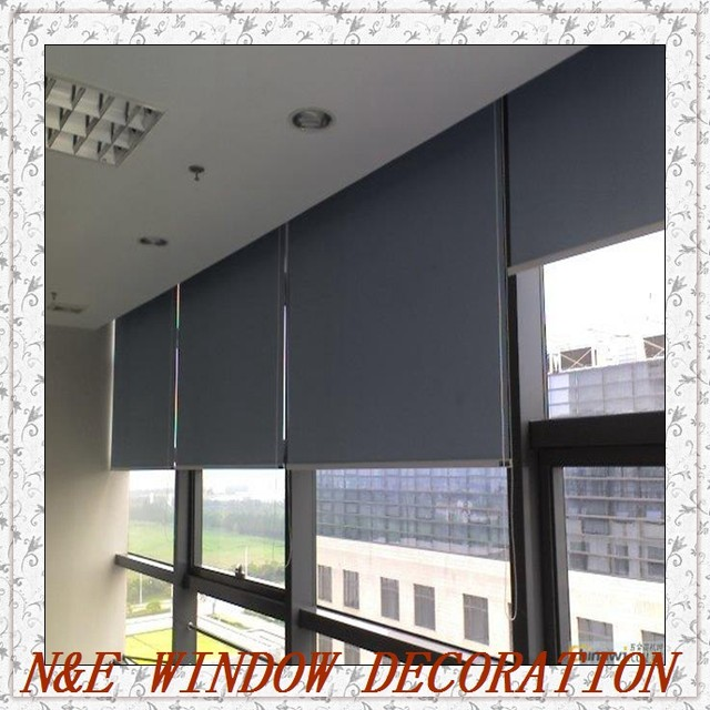 Beau Free Shipping Customized Size High  Quality Livingroom/office Window Blinds  100% Blackout Roller Blinds Customized Size
