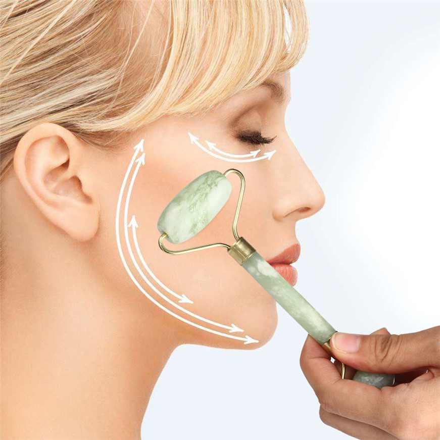 2017 Facial Massage Jade Roller Face Body Head Neck Nature Beautful Device massager Hot Sales