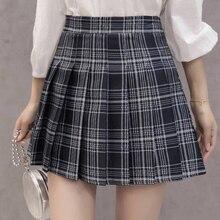 XS-3XL Women Skirt Preppy Style High Waist Chic Stitching Skirts Summer Student Pleated Skirt Women Cute Sweet Girls Dance Skirt