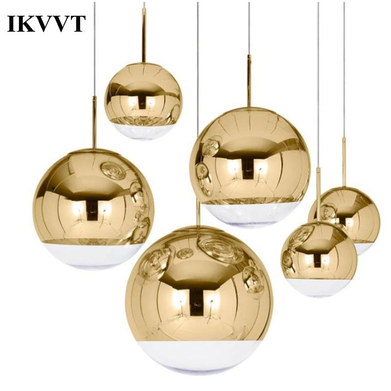 Us 25 41 Off Ikvvt Modern Electroplate Pendant Light Famous Design Silver Gl Mirror Durface Star Ball For Palor Home Bar Room E27 In
